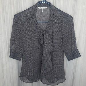 French Connection sheer blouse   size XS